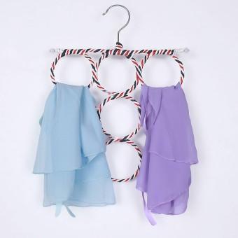 Home; Zn23 Wonder Hanger Magic Gantungan Baju Lemari Pakaian Laundry Biru. Clothes Tie Belt Shawl Scarf Hanger Holder Closet Organizer Hook 9 Ring Holes