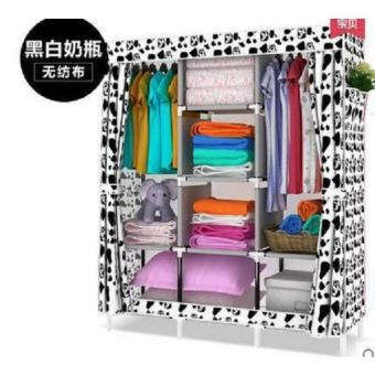 Harga Big Space Lemari Pakaian Portable Wardrobe Cloth Rack Multifunction - Bongkar Pasang