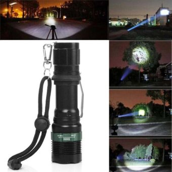 Harga 3000 Lumen Zoomable CREE XM-L Q5 LED Flashlight Torch Zoom Super Bright Light - intl