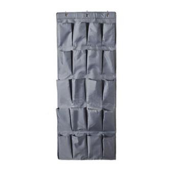 Harga 360DSC tas pengatur dengan 20 kantong penyimpanan sepatu yang tergantung di atas pintu - Abu