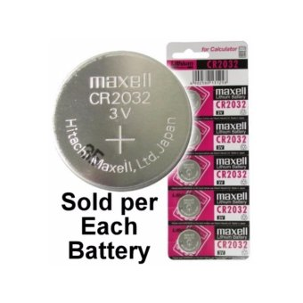 Harga Maxell CR2032 3 Volt Coin Lithium Cell Battery - MXL-CR2032