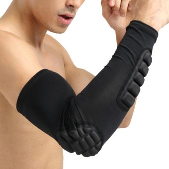 Harga Breathable Extended Elbow Arm Sleeve Pad Protector for Outdoor Basketball Football Shooting - intl