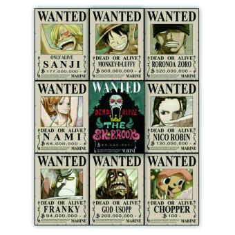 Harga Bounty Poster One Piece SHP Edition 1 set - isi 9 pcs