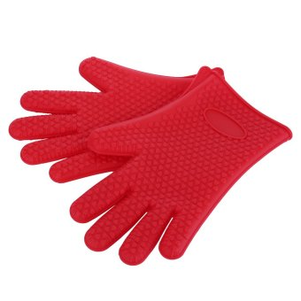 "Harga ""niceEshop 1Pair Silicone Gloves Heat Resistant Gloves Oven Glove"