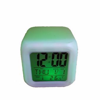 jam Moody Kubus HHM117 Jam Alarm with Pengukur Suhu  Berubah 7 Warna .  Source 2a654f2b60