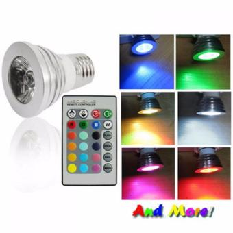 Harga XCSource Lampu Warna RGB LED Light Color Changing Lamp Bulb W/ Remote Control Silver
