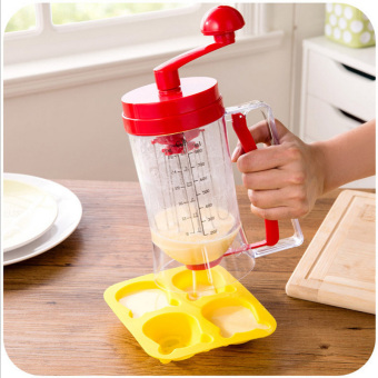 Harga 800ML New Baking Essentials Cake Batter Cream Dispenser Dough Cupcake Batter Dispensers