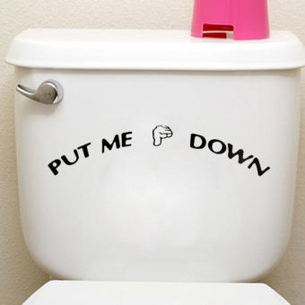 "Harga Gracefulvara Novel ""Turunkan Aku"" Gerakan Diseduh Sendiri Kursi Toilet Stiker"