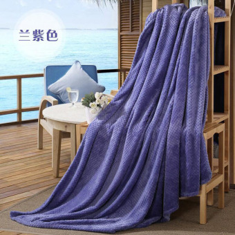Harga Soft Double Throw Blankets Durable Sofa/air/bedding /travel Flannel Throw Blanket Soft Bedsheet Warm Air Conditioning Cobertor ( Blue Violet )200X230cm - intl