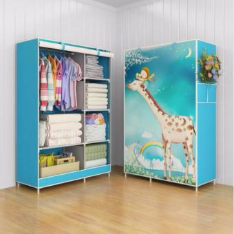Harga Cloth Organizer Organiser Lemari Pakaian Baju 03 Giraffe Multifunction New Wardrobe Cloth Rack With Cover