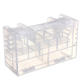 Harga Large Translucent Hard Plastic Case Holder Storage Box for AA AAA C battery