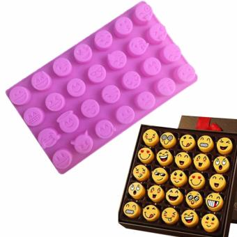 Harga New Chocolate Cake Mold Moulds Fondant Icy Jelly Silicone Emoji Sugar Ice - intl