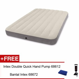 Harga Intex-Kasur Angin Full Deluxe Single-High Airbed 64708 Free Pompa Intex 68612+ Bantal Intex 68672