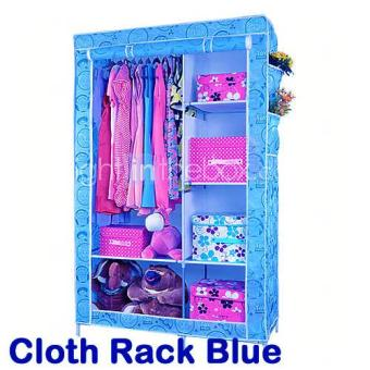 Harga Portable Cloth Wardrobe Rack Multifunction - Lemari Rak Baju Bongkar Pasang