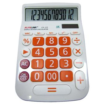 Harga ALFA LINK Accessories Calculator 12 Digits CD 12F White orange