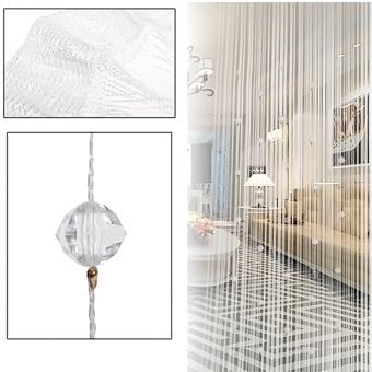 BELI SEKARANG Imitasi Bermanik-Manik Kristal Rumbai Tali Tirai Jendela RumahDekorasi Pintu Pembagi 1 m X 2 m Putih Klik di sini !!!