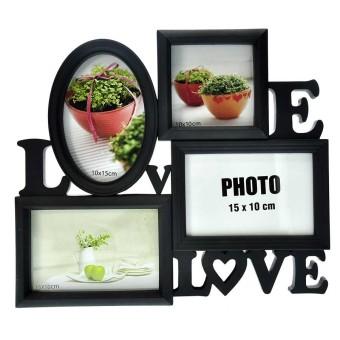 Inno Foto Bingkai Foto Plastik WS104 Love With 4x4, 4x6, 2 6x4 Op.