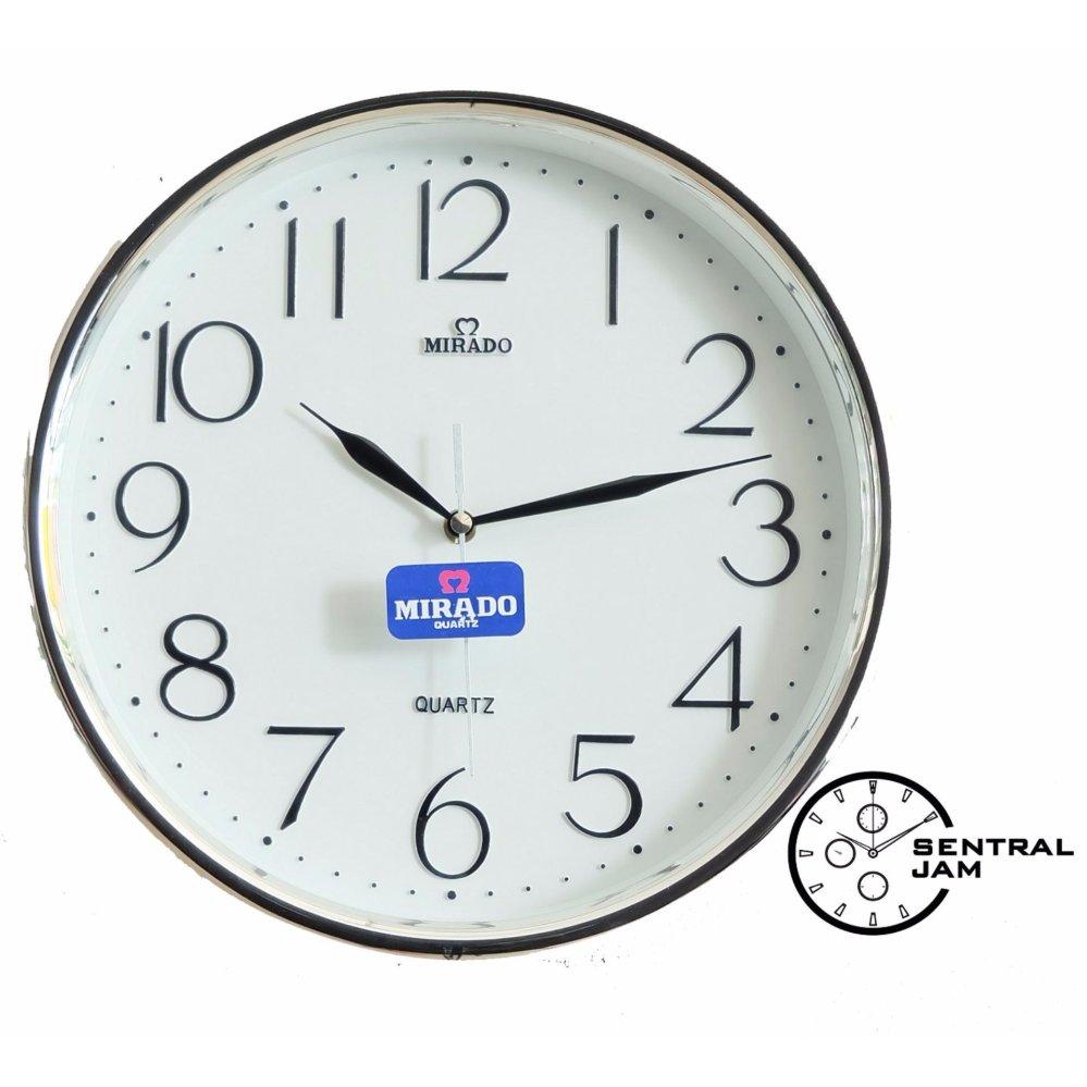 Jual Jam Dinding Mirado 2103 WH Sentral Jam Tokopedia Source · Jam Dinding  Mirado 8828 White b240009ea2