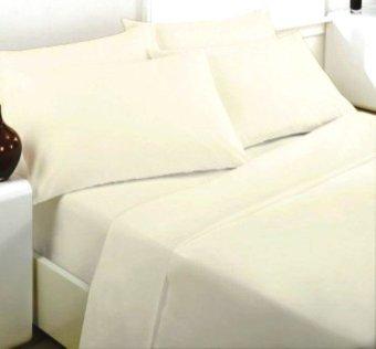 Jaxine Bed cover Katun Jepang Motif Putih Polos