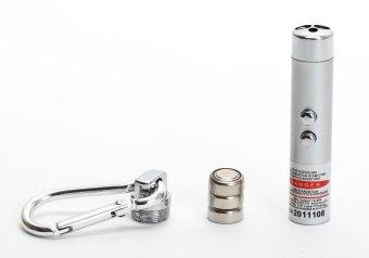 JinGle 3 in 1 Laser Pen 2 LED Flashlight UV Torch Light Keychain(Silver) - 5