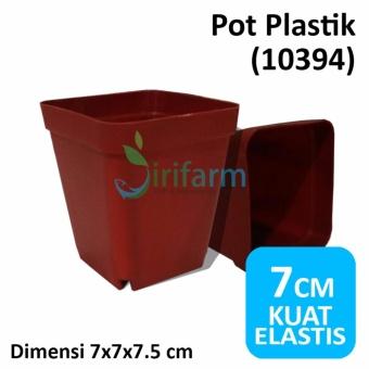 Jirifarm Hidroponik [10SET] Pot Plastik 7x7x7.5