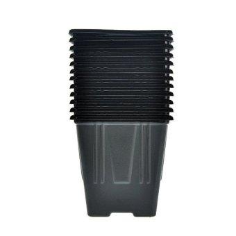 Jirifarm Hidroponik 12 Set Pot Plastik 198550 7x7x7 cm - Hitam