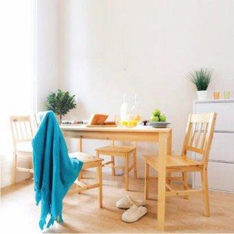 JYSK Funiture Meja Makan + Kursi Lacquered Pine TYLSTRUP