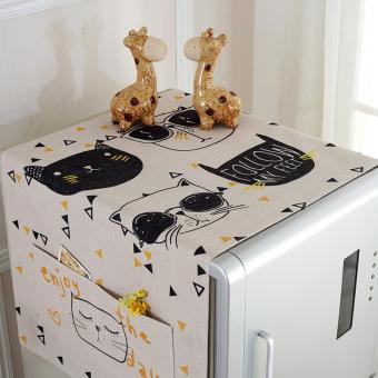 Kartun kapas penutup debu drum mesin cuci lemari es kain penutup lemari es penutup