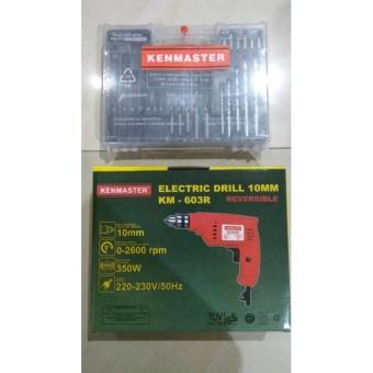 bolak balik+mata bor besi set. Source · Kenmaster Electric Drill .