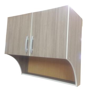 Kitchen Set Plywood Atas 2 Pintu - Dark Natural Serat Kayu