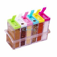 Kokakaa Kotak Tempat Bumbu 6in1 Seasoning Set