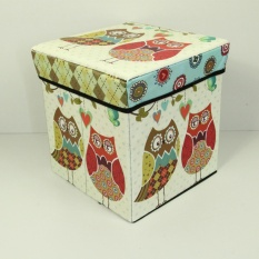 Kotak Penyimpanan Multifungsi Kotak Serbaguna Sekaligus Bangku Bahan Tebal - New Burung Hantu