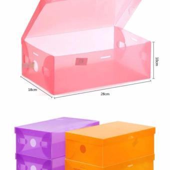 Kotak Sepatu Slide Dengan List Metal Sudut Plastik Bisa Disusun Source · Detail Gambar Kotak Sepatu Transparan isi 5 pcs Warna Random Terbaru