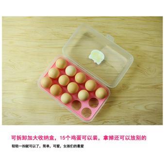 Kotak Telur isi 15 Grid Egg Box Egg Case Tempat Penyimpanan TelurRak Telur Kitty Kucing - 2