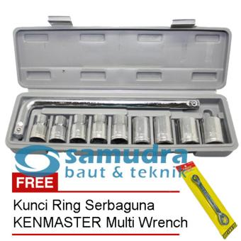 KUNCI SOCK SET 10 PCS & KENMASTER KUNCI RING PAS TOOLKIT SNAP NGRIP