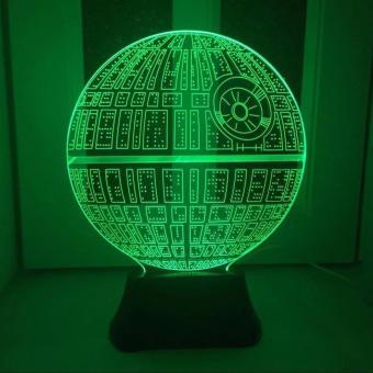 3d Led Lampu Transparan Design Tengkorak Putih Daftar Harga Source · Lampu Hias 3D LED Transparan 7 Color Design Star Wars Ball Multi Color