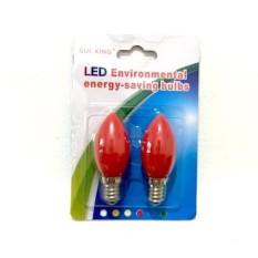 Alice Lampu LED 1Watt E12 2 PC - MerahIDR39000. Rp 39.000