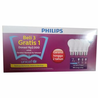 Lampu LED 7 watt Paket Philips