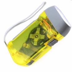 Lanjarjaya Senter Pompa LED Tangan - Hand Pressing Flashlight rechargeable - Kuning