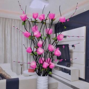bunga plastik hiasan sudut ruang tamu - berbagai ruang