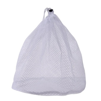 Laundry Bag Clothes Washing Net Bra Lingerie Wash(White)-S - intl