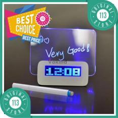 LCD Display Alarm Clock with Memo Board / Universal Jam Unik Meja Papan Memo