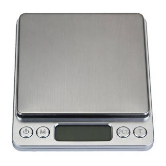 leegoal 3000g/0.1g Digital Pocket Stainless Jewelry/Kitchen Food Scale, Lab Weight,Silver