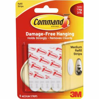 Lem Solatip Serba Guna 3M Medium Mounting Strip Hook 17021p Command