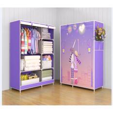 Lemari Baju 2 sisi 3D - Lavender
