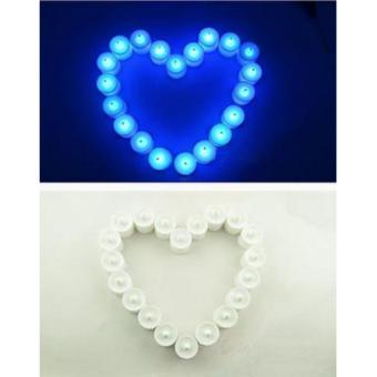 Lilin Elektrik 7 Warna /Colorful LED CANDLE LAMPU MINI (dapat 6pcs) - 2