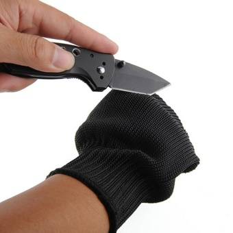 LingTud Cut Resistant Fishing Fillet Gloves With Stainless SteelMesh(Black, 1 Pair) - intl - 2