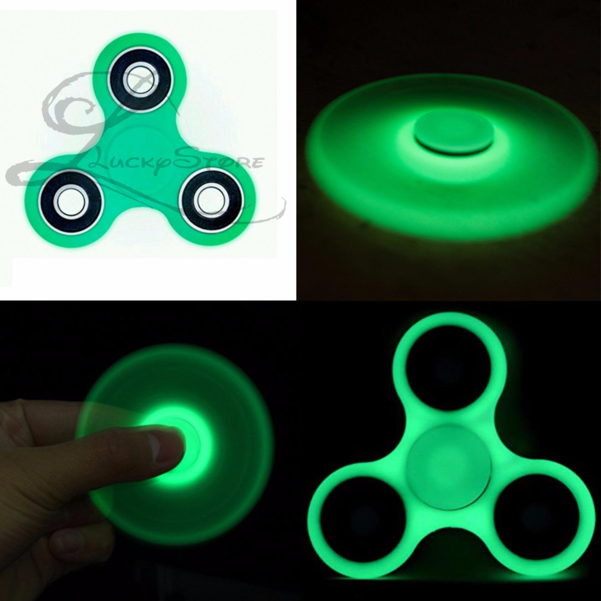 Lucky Glow In The Dark Fidget Spinner Hand Spinner Hand Toys Focus Games / Mainan Spiner