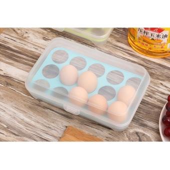 Lullaby 15 Grid Egg Box Egg Case Kotak Telur Tempat Telor isi 15pcs - 2 ...