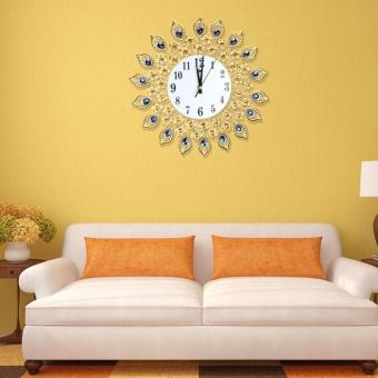 Luxury Diamond Large Wall Jam Logam Living Room Wall Clock - 2